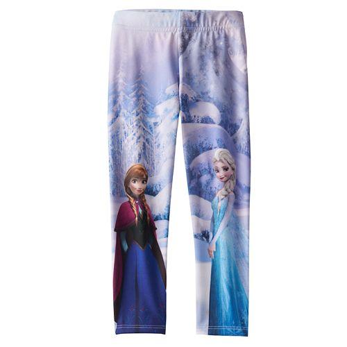 3cd99ed37ea96 Disney Frozen Elsa & Anna Fleece-Lined Leggings by Jumping Beans ...