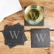 Cathy's Concepts Personalized 4 pc Slate Coaster Set