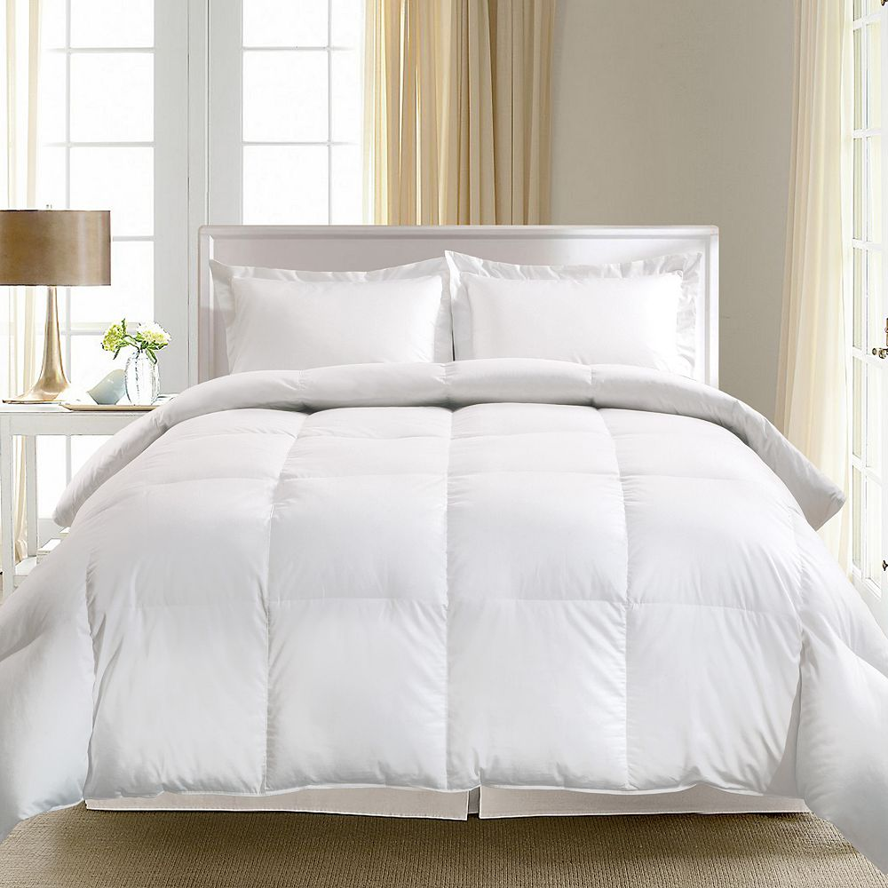com standard white twin home creative kitchen feather solutions comforter goose classic living dp down amazon