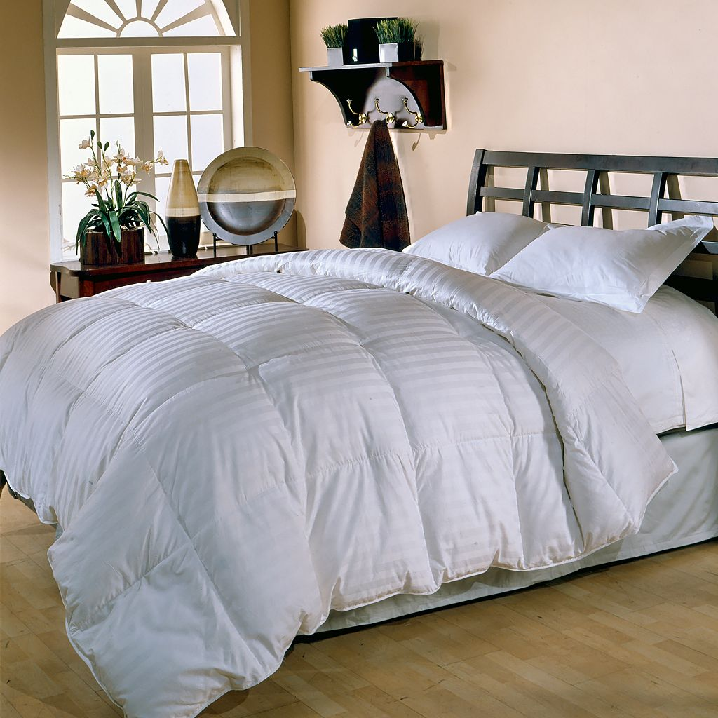 Royal Majesty Supreme 350-Thread Count Damask Stripe Duck Down Comforter