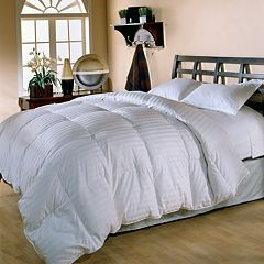Royal Majesty Supreme 350-Thread Count Damask Stripe Duck Down Comforter