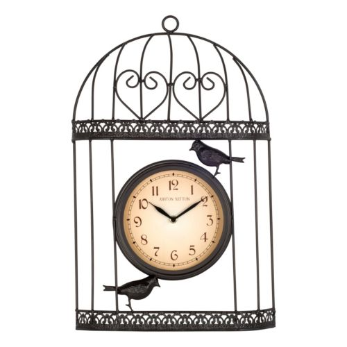 Bird Wall Clock - Indoor and Outdoor