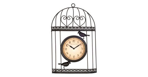 Bird Wall Clock Indoor And Outdoor