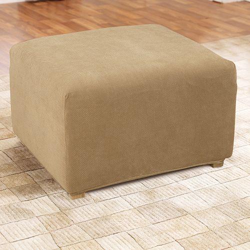 Sure Fit Stretch Pique Ottoman Slipcover
