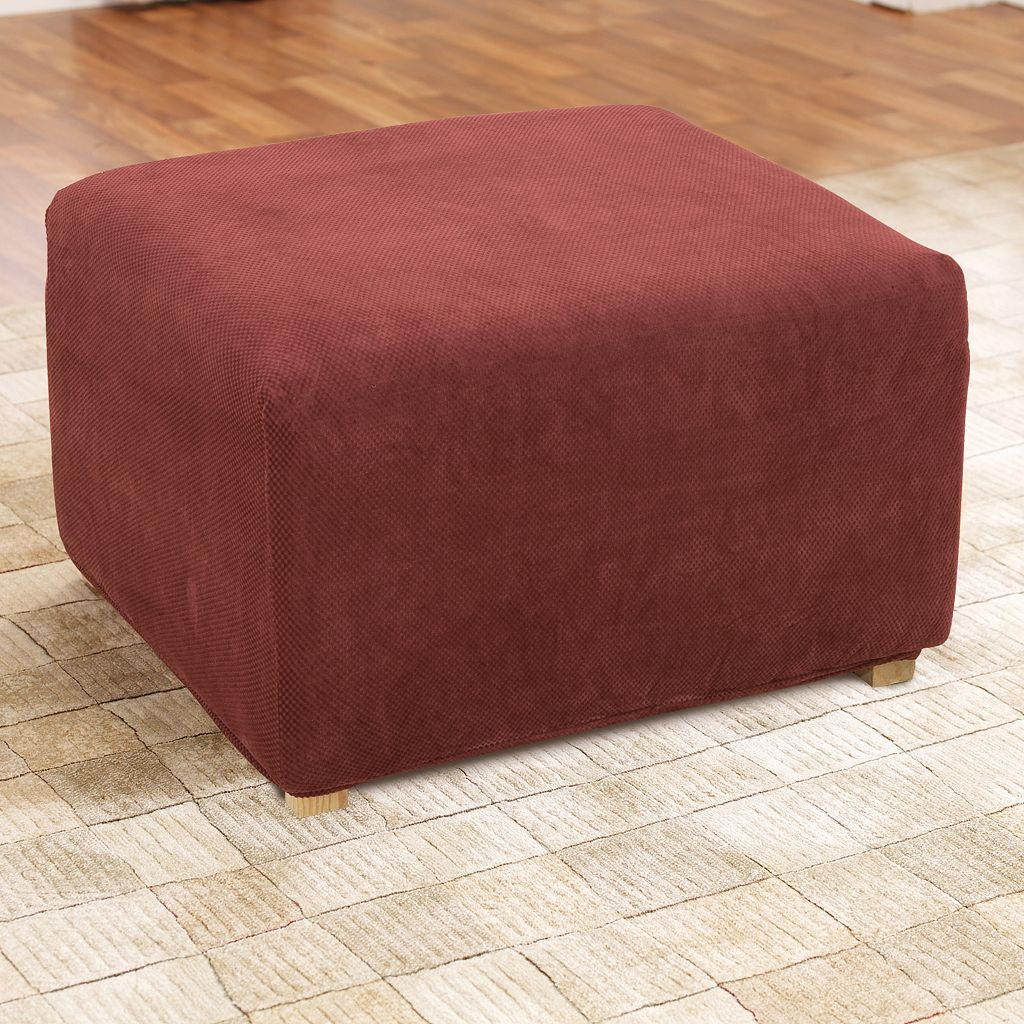 Sure Fit Stretch Pique Ottoman Slipcover