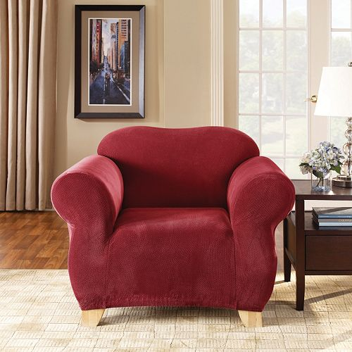 Sure Fit Stretch Pique Chair Slipcover