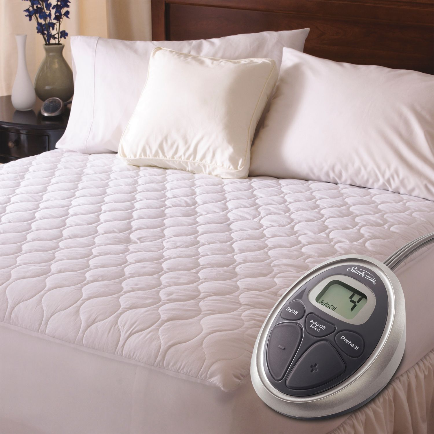 sunbeam slumber rest waterproof electric mattress pad