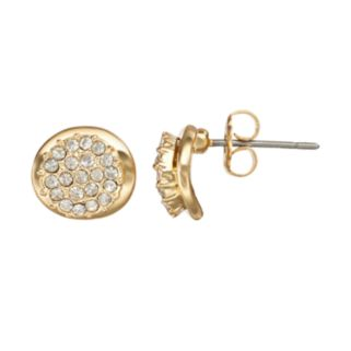 Duchess of Dazzle Crystal 14k Gold-Plated Stud Earrings