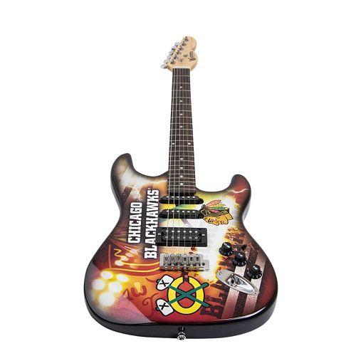 woodrow chicago blackhawks northender electric guitar. Black Bedroom Furniture Sets. Home Design Ideas