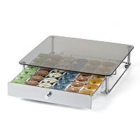 Nifty Glass-top K-Cup Rolling Drawer