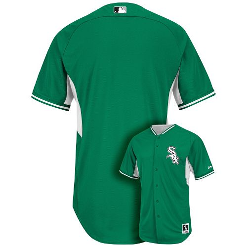 8f4f28d2c10 Men s Majestic Chicago White Sox Green Cool Base Batting Practice Jersey