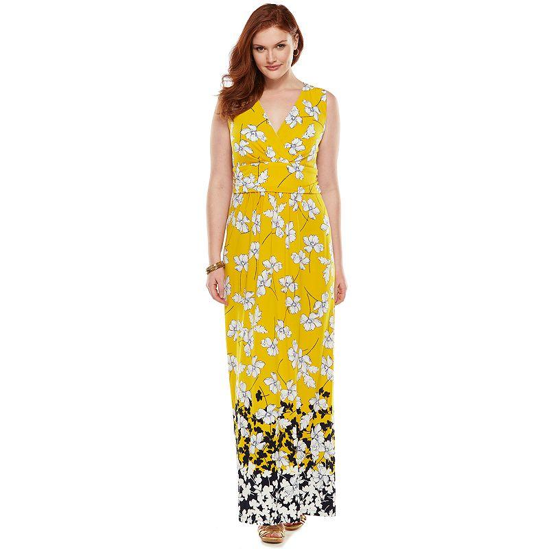 Chaps Empire Maxi Dress - Women's Plus Size