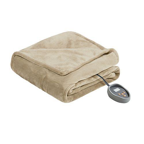 Beautyrest Microlight Plush to Berber Heated Blanket