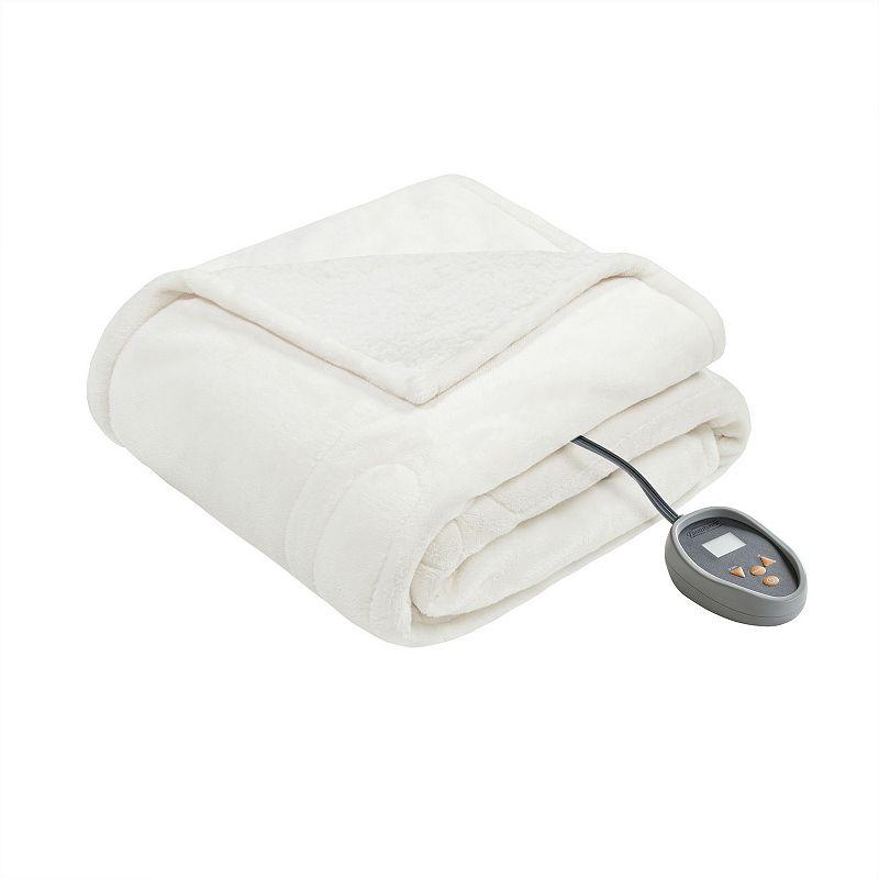 Beautyrest Microlight Berber Queen Electric Blanket Bedding