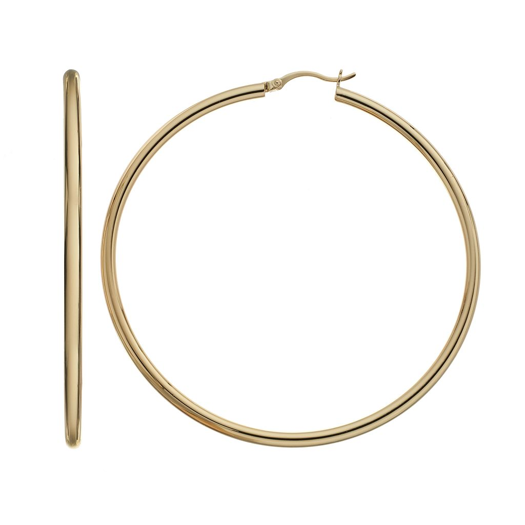 AMORE by SIMONE I. SMITH Sterling Silver Hoop Earrings