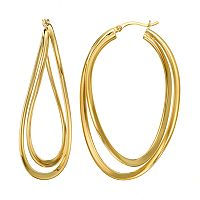 AMORE by SIMONE I. SMITH Sterling Silver Interlocking Oval Hoop Earrings