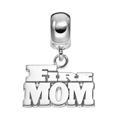 Insignia Collection Sterling Silver 'Fire Mom' Charm