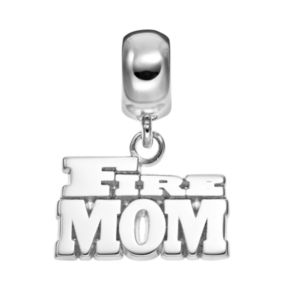 "Insignia Collection Sterling Silver ""Fire Mom"" Charm"