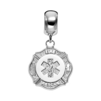Insignia Collection Sterling Silver Maltese Cross and Star of Life Charm