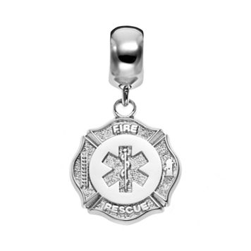 Insignia Collection Sterling Silver Maltese Cross & Star of Life Charm