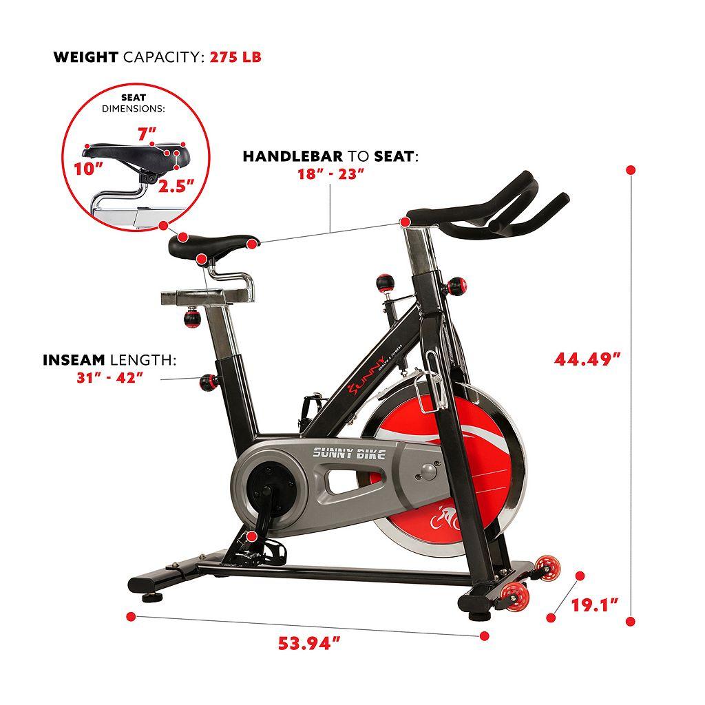 Sunny Health & Fitness Belt Drive Indoor Cycling Bike (SF-B1002)