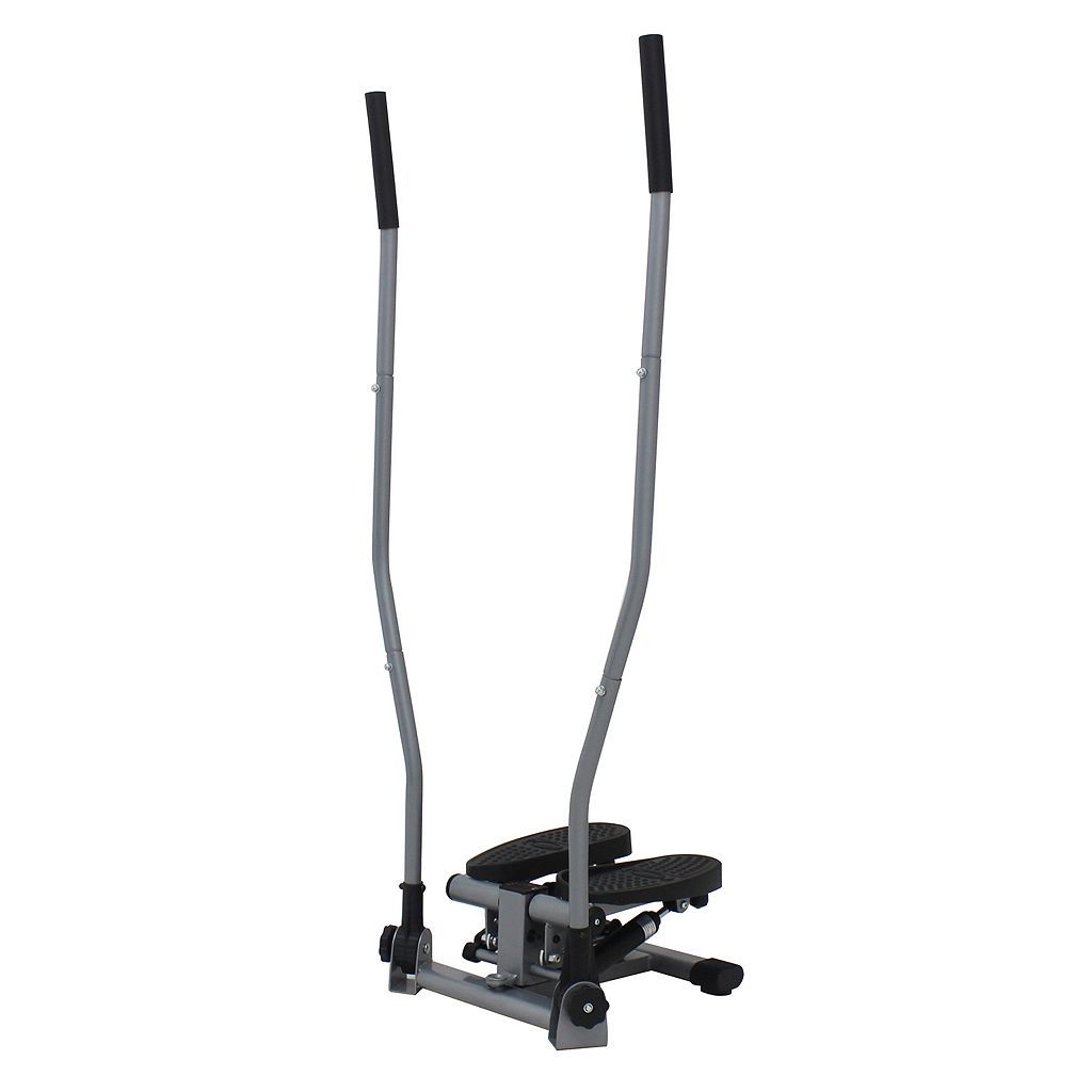 Sunny Health and Fitness Dual-Action Swivel Stepper with Handlebars