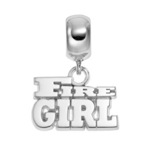 """Insignia Collection Sterling Silver """"Fire Girl"""" Charm"""