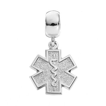 Insignia Collection Sterling Silver Star of Life Charm