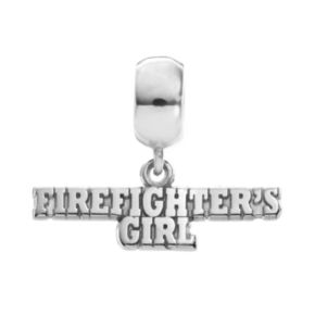 "Insignia Collection Sterling Silver ""Firefighter's Girl"" Charm"