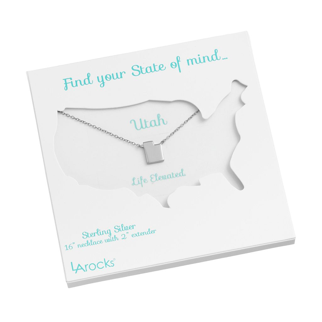Sterling Silver State Necklace