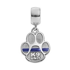 Insignia Collection Sterling Silver 'K9 Unit' Paw Charm