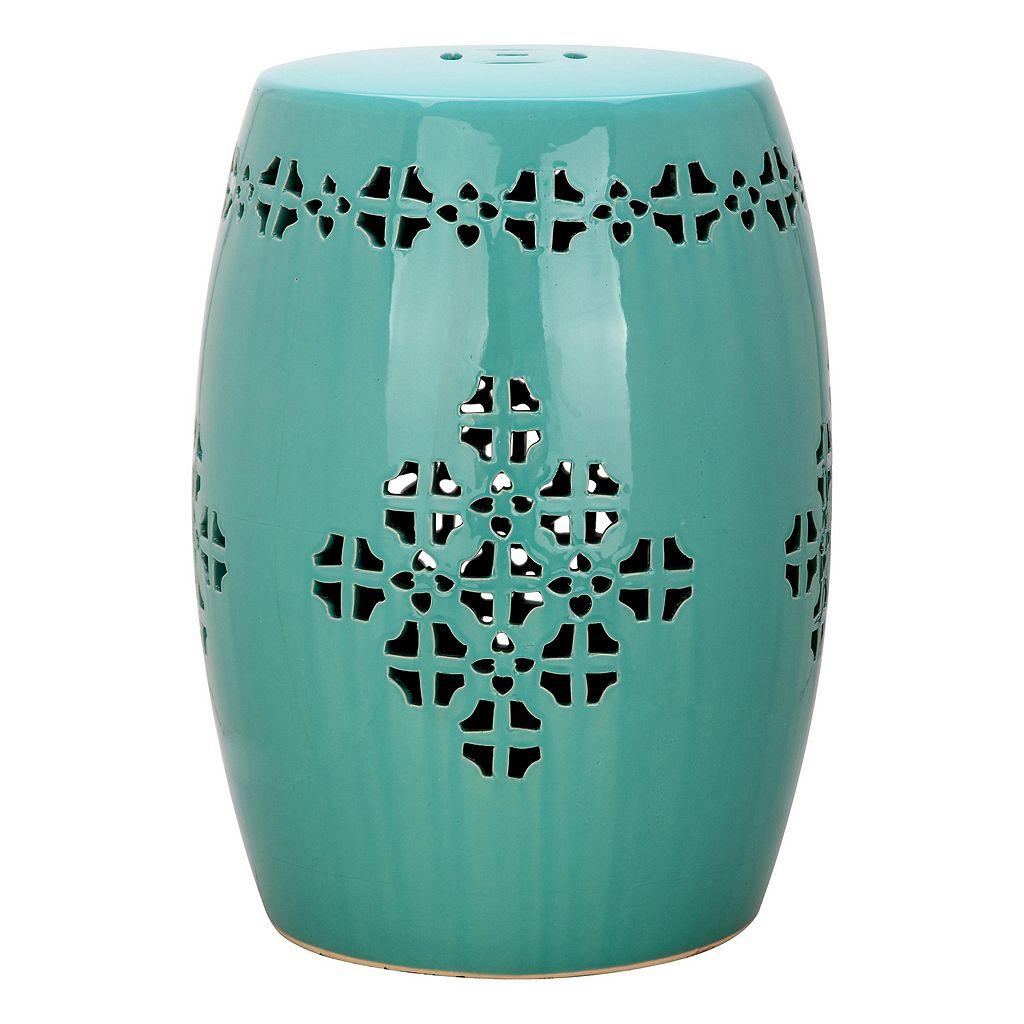 Safavieh Quatrefoil Band Ceramic Garden Stool