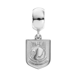 """Insignia Collection Sterling Silver """"POW MIA"""" Charm"""