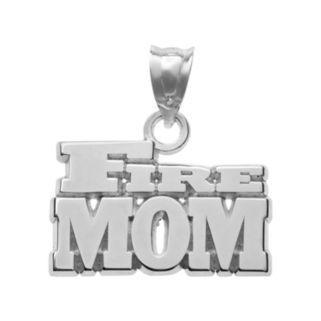 """Insignia Collection Sterling Silver """"Fire Mom"""" Pendant"""