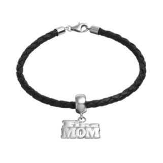 """Insignia Collection Sterling Silver & Leather """"Fire Mom"""" Bracelet"""
