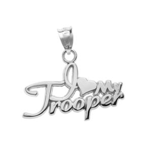 "Insignia Collection Sterling Silver ""I Love My Trooper"" Pendant"