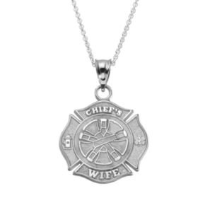 "Insignia Collection Sterling Silver Maltese Cross ""Chief's Wife"""