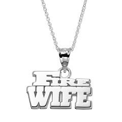 Insignia Collection Sterling Silver 'Fire Wife' Pendant Necklace