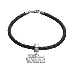 Insignia Collection Sterling Silver & Leather 'Fire Wife' Bracelet