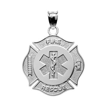 Insignia Collection Sterling Silver Maltese Cross & Star of Life Pendant