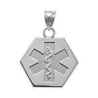 Insignia Collection Sterling Silver Medical Alert Pendant