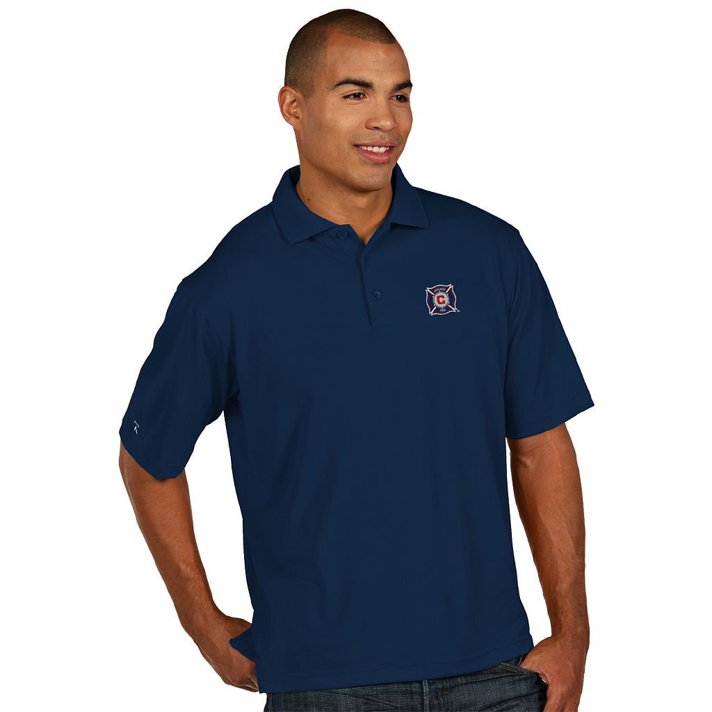 Men's Antigua Chicago Fire Xtra-Lite Desert-Dry Pique Performance Polo