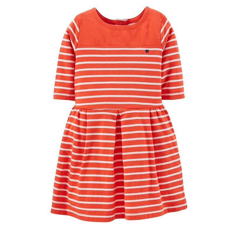 Carter's Striped Pleated Dress - Girls 4-6x