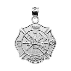 Insignia Collection Sterling Silver Maltese Cross Pendant