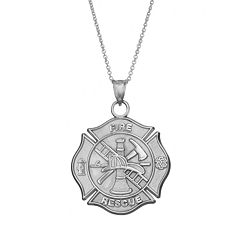Insignia Collection Sterling Silver Maltese Cross Pendant Necklace