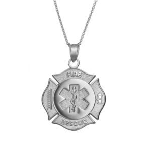Insignia Collection Sterling Silver Maltese Cross and Star of Life Pendant Necklace