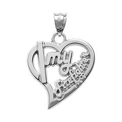 Insignia Collection Sterling Silver 'Firefighter' Heart Pendant