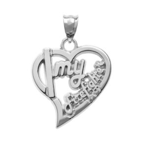 """Insignia Collection Sterling Silver """"Firefighter"""" Heart Pendant"""