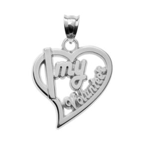 """Insignia Collection Sterling Silver """"Volunteer"""" Heart Pendant"""