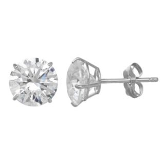 Emotions Cubic Zirconia 10k Gold Solitaire Earrings - Made with Swarovski Cubic Zirconia